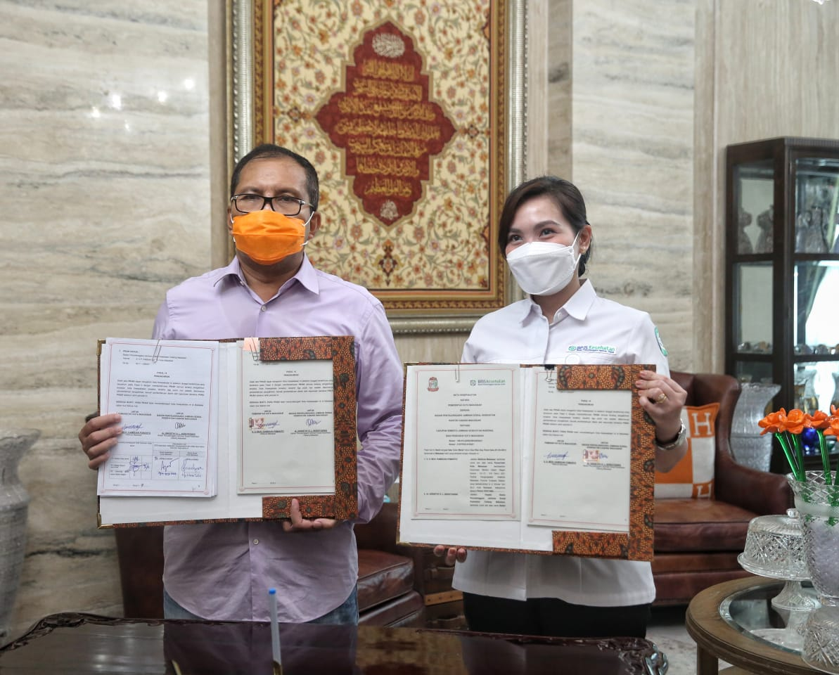 """Luar Biasa, Puluhan Ribu Tim """"Makassar Recover"""" Kantongi BPJS Gratis"""