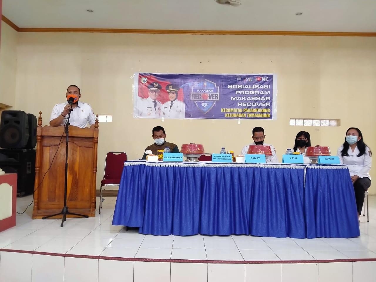 Master Panakkukang Sosialisasikan Makassar Recover di Tamamaung