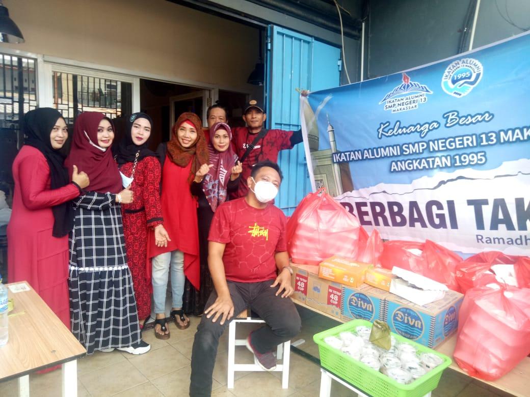 Peduli Alumni SMP Negeri 13 Makassar Angkatan 1995 di Bulan Ramadhan 1442 H