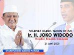 SAdAP Doakan Jokowi di Usia ke 60 Tahun