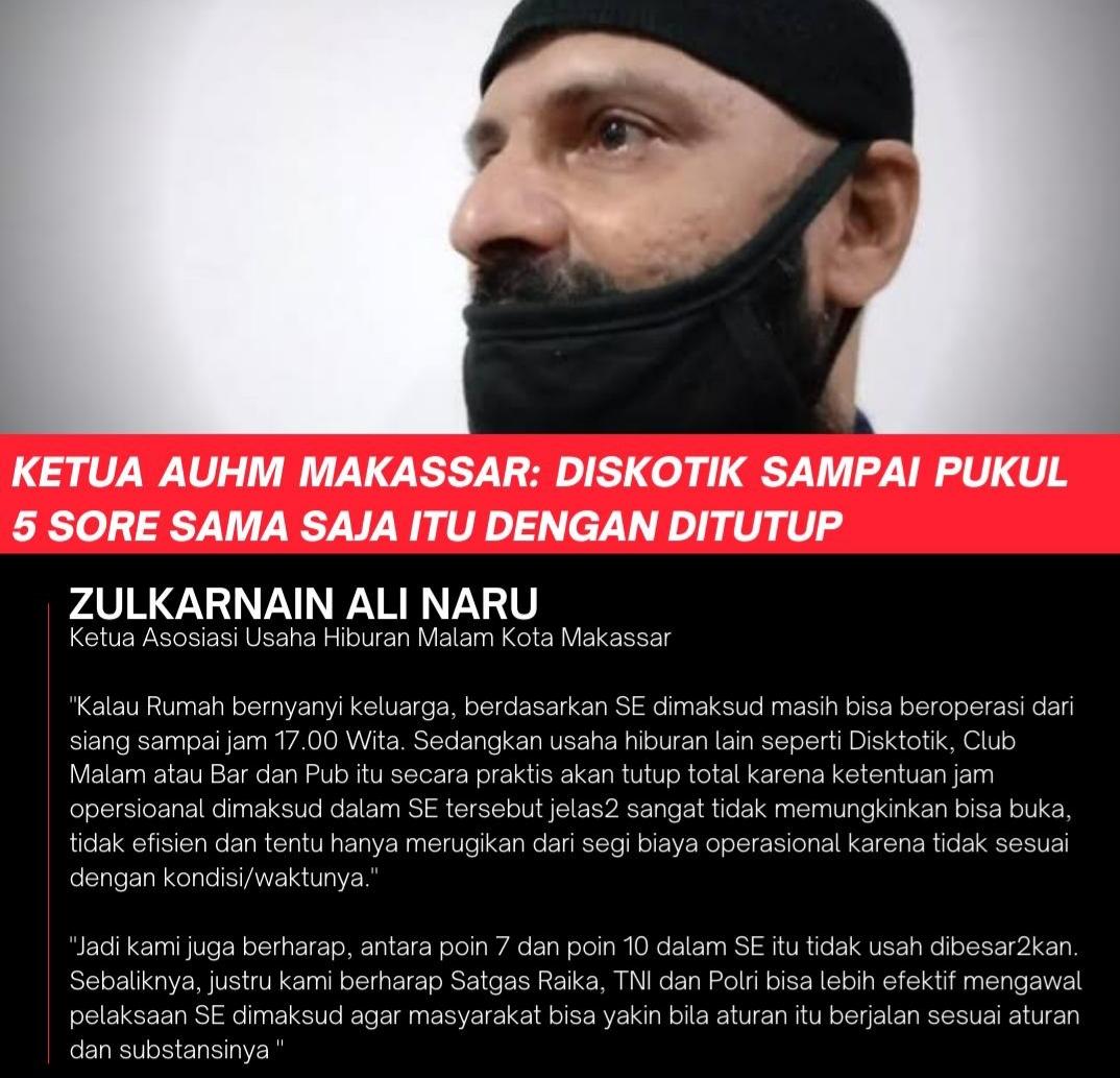 AUHM: Semua THM di Makassar Tutup Selama Pemberlakuan PPKM